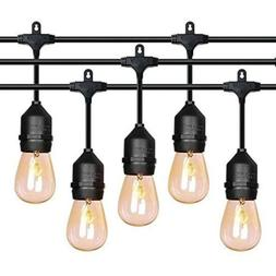 FrenchMay 52ft Outdoor String Lights Weatherproof 20 Pack 2W