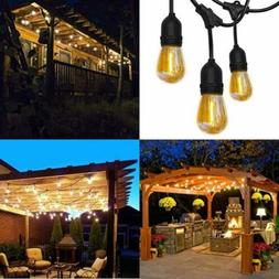 52FT Shatterproof LED Outdoor String Lights UL Approval Comm