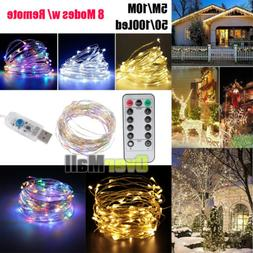 5M/10M 50/100Led USB Copper Wire RGB Fairy String Light With