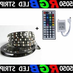 5M/16.4ft RGB SMD 5050 Black Board 300 LED Rope Strip Lights