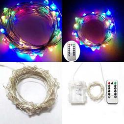 5M 50 LEDS Battery Operated Remote Contol LED String Lights