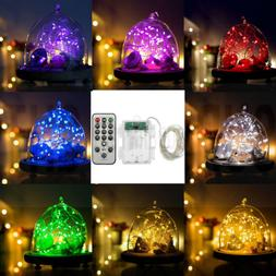 5M 66Leds Copper Wire LED String Fairy Light Timer with ON/O