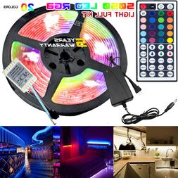 5M RGB 5050 Waterproof LED Strip light SMD 44 Key Remote 12V