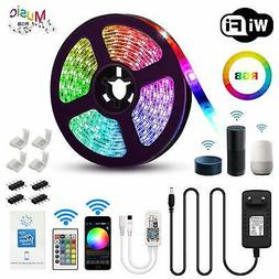 5M RGB Waterproof LED Strip Light Alexa Google Smart Home WI