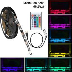 5V 5050 60SMD/M RGB LED Strip Light Bar TV Back Lighting Kit