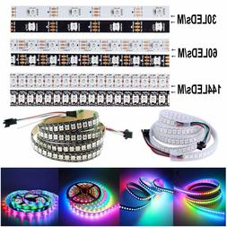 5V WS2812B 5050 RGB 30/60/144LEDs/M LED Strip ws2812 IC Indi