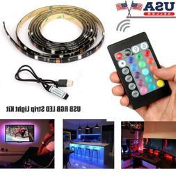 5V USB LED Strip Lights TV Back Light 5050 RGB Colour Changi