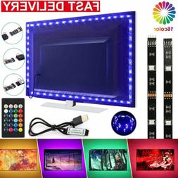 5V USB LED Strip Lights TV Back Light 5050 RGB Colour Changi