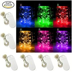 6 PCS 6-Colors LED String Light, Battery Operated 20 Micro S