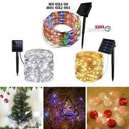 60/100 LED Solar <font><b>String</b></font> <font><b>Light</