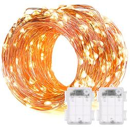 DecorNova 60 LED IP44 Waterproof Copper Wire String Lights w