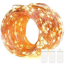 60 LED String Lights, DecorNova Super Bright Color Wire Rope