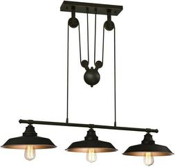 Westinghouse 6332500 Iron Hill Three-Light Indoor Island Pul