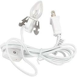 Set of 2 Darice 6402 Accessory Cord with 1 Lights, 6-Feet, W