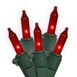 GE 64429 String A Long Mini Light Set, Red