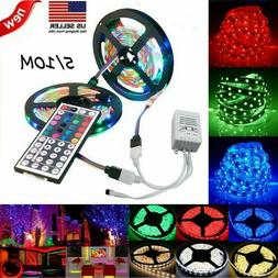 65.6FT Flexible Strip Light RGB LED SMD Remote Fairy Lights