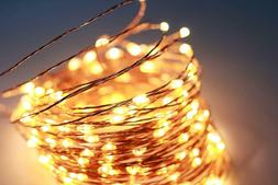 66 Ft 200LEDs Waterproof Starry Fairy Copper String Lights U