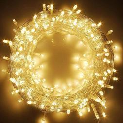 66FT 200 LED Indoor String Lights Warm White, Plug In String