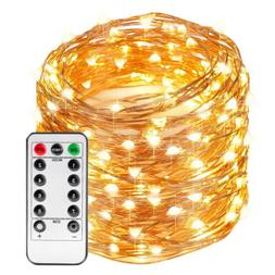 66FT 200 LED String Rope Lights Copper Wire Christmas Strip