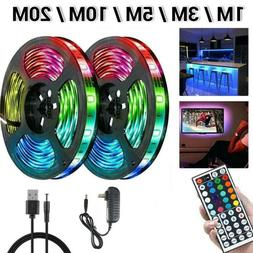 66FT Flexible 3528 RGB LED SMD Strip Light Remote Fairy Ligh