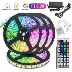 66FT Flexible 3528 RGB LED SMD Strip Light Remote Fairy Ligh