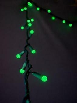 70 Outdoor Green LED G12 Raspberry String Lights, 23.6 FT Gr