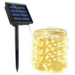 72 Ft 200 LED String Lights Solar-Powered Starry Rope Copper