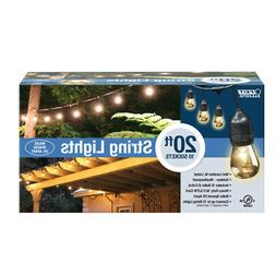FEIT ELECTRIC 72034 DROP STRING LIGHTS, CLEAR, 20'