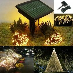 72ft Outdoor Indoor 200 LED Warm White Solar String Christma