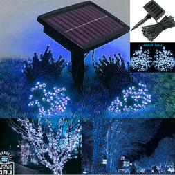 72ft Outdoor Indoor 200 LED Cool White Solar String Christma