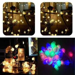 8.2 FT 20 Rattan Ball Fairy String Lights 9.8FT Leds Battery