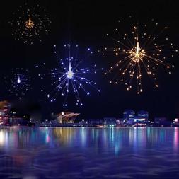 8 Modes 150 LED Dimmable String Firework Lights Starburst Ga