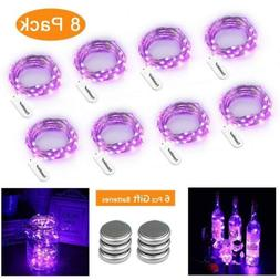 8 Pack Fairy String Lights 30 LED 10ft Battery 30 * 8 Packs,