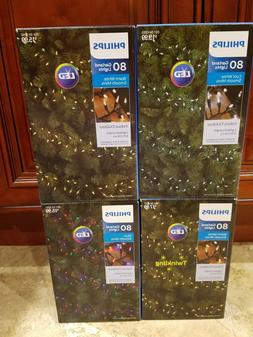 Philips 80ct LED Smooth Mini Garland String Lights Multicolo