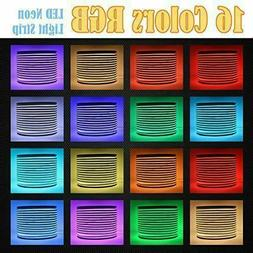 82ft 110V RGB Professional Grade Led Neon Rope Lights Flexib