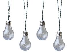 Moonrays 91107 Plug-In LED Vintage Bulb String Lights, Clear