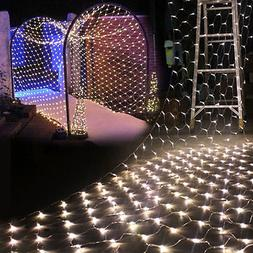 96/200/880LED Fairy Net Mesh String Lights Xmas Christmas We