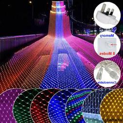 Ourdoor Fairy String Lights Net 96-200 LED Curtain Christmas