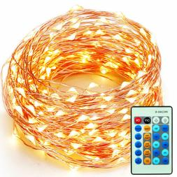 99FT 300LEDs Christmas Decor Wedding Copper Wire LED String