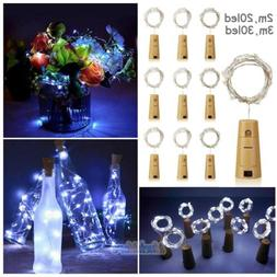 9Pack 2M 3M Cork Shaped LED Copper Wire String Light Wine Bo