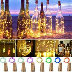 Wine Bottle Lights Cork Shape 20 Led Fairy String Party Cent