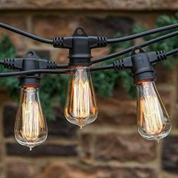 Brightech Ambience Pro Vintage Outdoor String Lights - 48 Ft