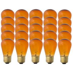 Amber S14-11w Bulb - Patio string light replacement Bulb - 2