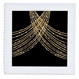 3dRose Anne Marie Baugh - Bling Glam - Image of Gold Cross D