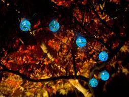 Aurora Glow String Solar Lights - Blue / Green - Sea Glass
