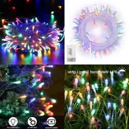 Battery Christmas Lights Waterproof 8 Modes 72Ft 200 Led Dec