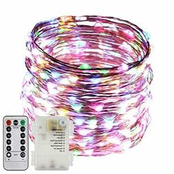 ErChen Battery Operated 40 FT 240 Led Fairy Lights,Remote Co