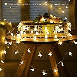 Star String Lights,Battery Operated LED Twinkle Lights 50pcs