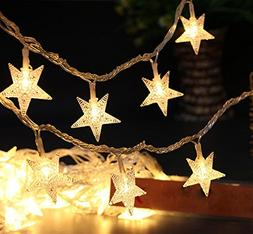 Greensen Battery Operated String Lights 40 LED Star Shaped T