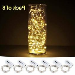 6 Pack Battery Operated Led String Lights Tiny Micro Satrry